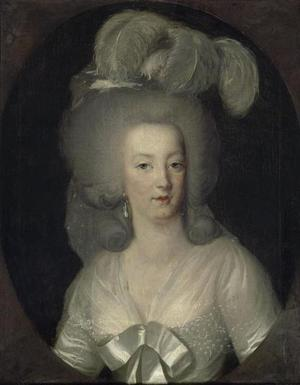 Anonymous painter of the XVIIIth century, Louvre, Paris, Queen Marie Antoinette