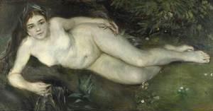 A nymp by a stream